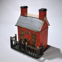 Paint-decorated Steel House-form Lockbox