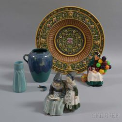 Five Pottery and Ceramic Items