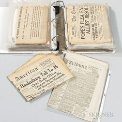 Civil War, Titanic, and Hindenburg Newspapers