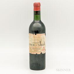 Chateau Lynch Bages 1961, 1 bottle
