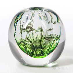 Edvard Hald for Orrefors Graal Fish Vase
