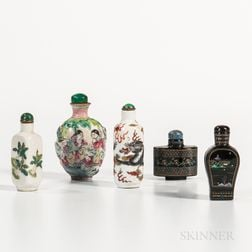 Five Snuff Bottles