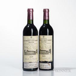 Chateau La Mission Haut Brion 1978, 2 bottles