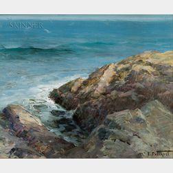 Edward Henry Potthast (American, 1857-1927)      Rocky Coast