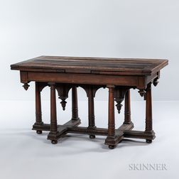 Henry II-style Oak Draw-leaf Table
