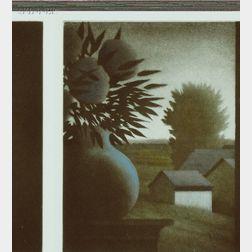 Robert Kipniss (American, b. 1931)      Vase and Landscape