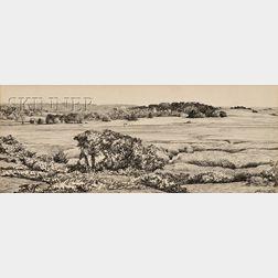 Robert Douglas Hunter (American, b. 1928)      Two Landscapes: BIRD SANCTUARY -WELLFLEET MASS.