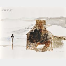 Andrew Newell Wyeth (American, 1917-2009)      House in Winter