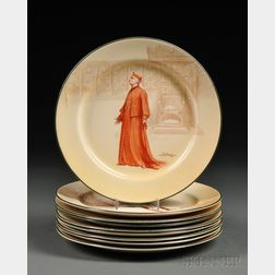 Nine Royal Doulton Plates Depicting Characters from Shakespeare Plays
