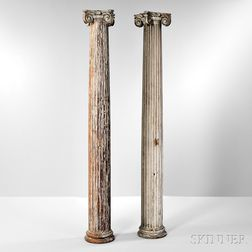 Pair of Classical Carved Columns