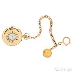 J.W. Benson 18kt Gold Demi-hunter Case Watch