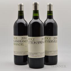 Ridge, 3 bottles