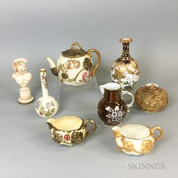 Eight Mostly Royal Worcester and Derby Porcelain Items.     Estimate $20-200