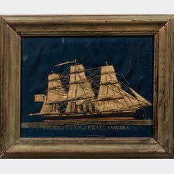 "Needlework Portrait of the ""US Steam Frigate Niagara"