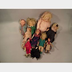 Ten Assorted Foreign and Domestic Dolls