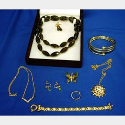 Lot of Gold, Silver, and Designer Jewelry