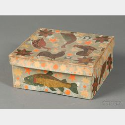 Paper Applique Decorated Covered Box