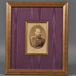 Signed and Dated Albumen Print of Tsar Alexander III