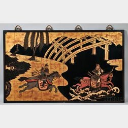 Two Lacquer Panels