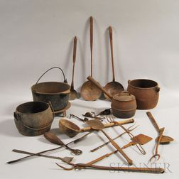 Group of Mostly Iron Domestic Items