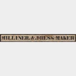 """Painted """"MILLINER.&.DRESS-MAKER"""" Trade Sign"""