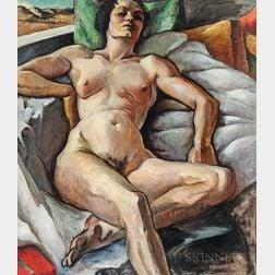 Virginia True (American, 1900-1989)      Reclining Nude