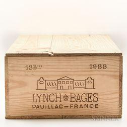 Chateau Lynch Bages 1988, 12 bottles (owc)