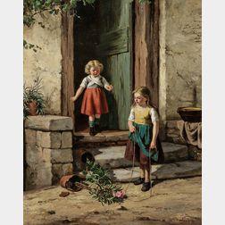 Jan Walraven (Dutch, 1827-1863)      Mischief Makers