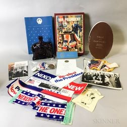 Group of Political Memorabilia, Postcards and a Harvard/Yale Program