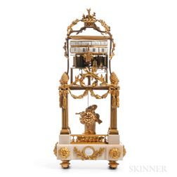 Temple d'Amour Marble and Ormolu Annular Shelf Clock