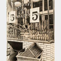 Berenice Abbott (American, 1898-1991)      Bread Store, 259 Bleecker Street, Manhattan