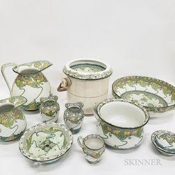"Ten-piece Doulton Burslem ""Kelmscot"" Ceramic Wash Set"