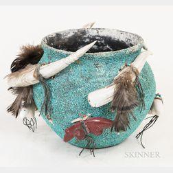 Edna Leki Zuni Animal Fetish Bowl