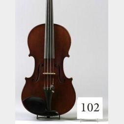 Modern German Violin, H.T. Heberlein, 1909