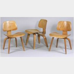 Three Mid-Century Modern DCW Chairs