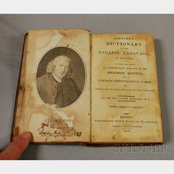 Rev. Joseph Hamilton, Johnson's Dictionary of the English Language