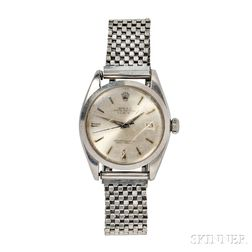 "Gentleman's Stainless Steel ""Oyster Perpetual Date"" Wristwatch, Rolex"