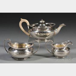 Three-piece George III Silver Tea Service