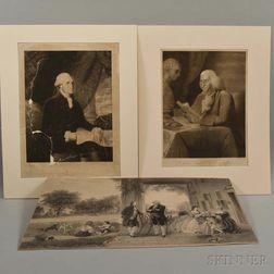 Three Unframed Engravings