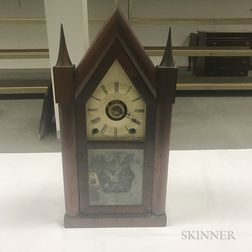 """Terry & Andrews """"Sharp Gothic"""" or """"Steeple"""" Mantel Clock"""