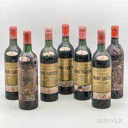 Chateau Brane Cantenac 1967, 7 bottles