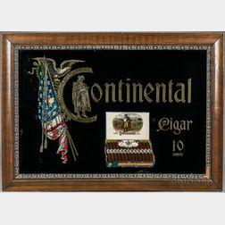 """Continental"" Cigar Advertising Sign"