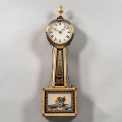 """Gilt-front Patent Timepiece or """"Banjo"""" Clock"""