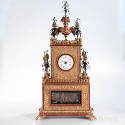 Chinese Cast Brass Automaton Shelf Clock