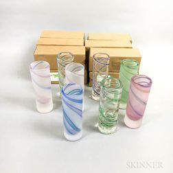 Twenty Cowdy Glass Workshop Short Vases