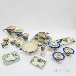 "Thirty-seven-piece Royal Doulton ""Gaylee"" Lunch Service.     Estimate $200-400"