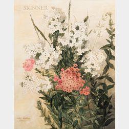 Ellen Robbins (American, 1828-1905)      Pink and White Phlox