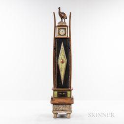 Richard Dunbrack Contemporary Folk Art Tall Clock