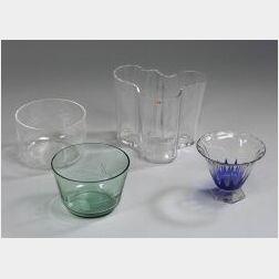 Four Art Glass Pieces