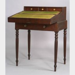 Federal Mahogany Veneer and Cherry Lady's Writing Desk